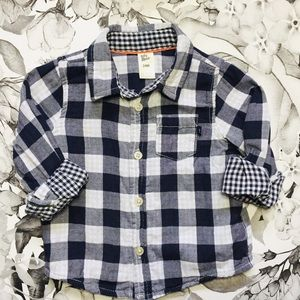 OshKosh Blue&White Plaid Button Down